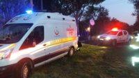 Ambulansı itfaiye kurtardı