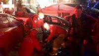 Ayvalık'ta zincirleme trafik kazası: 2 yaralı
