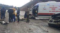 Dursunbey Akbaşlar Rampasında Kaza:1 Yaralı
