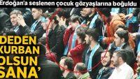 Erdoğan'a seslenen çocuk gözyaşlarına boğuldu