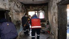 Evi yanan vatandaşa ALGEM'den destek