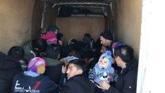 37 kaçak Afgan göçmeni yakalandı