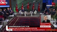 Erdoğan'dan Yücel Yılmaz'a canlı yayın sürprizi