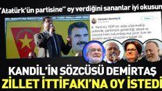 Kandil'in sözcüsü Zillet İttifakı'na oy istedi