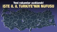 Hangi ilde kaç kişi yaşıyor? İşte Türkiye'nin nüfusu