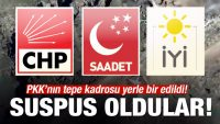 PKK'nın tepe kadrosu yerle bir oldu! 3 parti suspus!