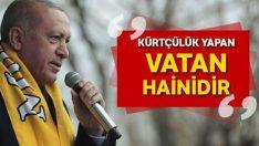 Erdoğan: Kürtçülük yapan vatan hainidir