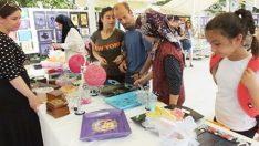 Burhaniye'de özel öğrencilerin yıl sonu sergisi ilgi görd