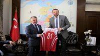 Türkoğlu, Vali Yazıcı'yı ziyaret etti