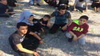Ayvalık'ta 45 kaçak göçmen yakaland