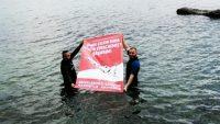 Engelli rekortmen dalgıçtan su altında anlamlı 15 Temmuz mesajı