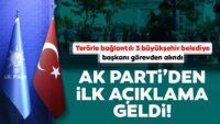 AK Parti'denHDP'li belediyelerdeki görevden almalarla ilgili ilk açıklama