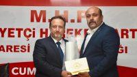 BAŞKAN ORKAN'DAN MHP'YE ZİYARET
