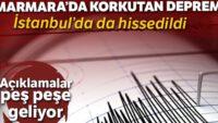 İstanbul'da deprem oldu… Son dakika İstanbul depremi