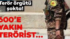 40 terörist teslim oldu, 600'e yakın terörist YPG'den firar etti