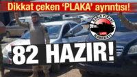 Suriye Milli Ordusu'nun araçlarındaki plaka detayı gözlerden kaçmadı
