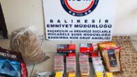 Bandırma'da kaçak tütün operasyonu.