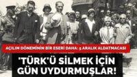 'Türk'ü kaldırmak için gün uydurdular!