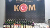 Balıkesir'de polisten kaçak tütün ve içki operasyonu.