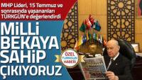 MHP Lideri Bahçeli: Milli bekaya sahip çıkıyoruz