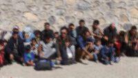 Ayvalık'ta Afganistan Uyruklu 15 Düzensiz Göçmen Yakalandı.
