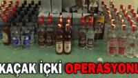 Balıkesir'de kaçak içki operasyonu.
