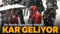 Kar geliyor!