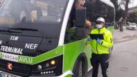 Polis ekiplerinden toplu taşımalara sıkı denetim.