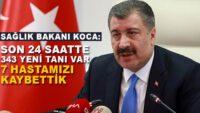 Sağlık Bakanı Koca yeni vaka sayısını açıkladı