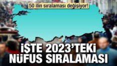 2023'te hangi ilin nüfusu hangisini geçecek?Balıkesir'in nüfusu kaç olacak?