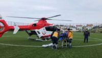 Avşa Adası'ndan helikopter ambulansla sevk edildi