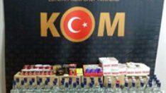 Balıkesir'de polisten kaçak tütün ve içki operasyonu!