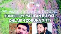 """Tunceli dağındaki """"TÜRK"""" adına alerji duyanlar!"""
