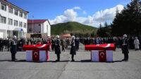 Bitlis'te şehit olan iki askerimiz için tören düzenlendi