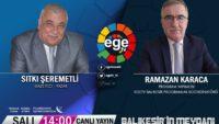 Gazeteci –Yazar, Sıtkı Şeremetli EGE TV'de Balıkesir'in Meydanı'nda