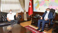 Karesi Ziraat Odası Başkanı Sami SÖZAT Vali Hasan ŞILDAK'a Hayırlı Olsun Ziyaretinde Bulundu