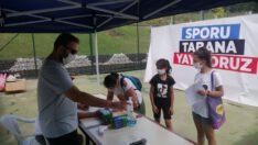 Karesi Spor Toto Tesislerine kurulan Portatif Yüzme Havuzu…