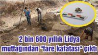 """2 BİN 600 YILLIK LİDYA MUTFAĞINDAN """"FARE KAFATASI"""" ÇIKTI"""