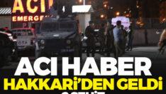 Hakkari'de zırhlı polis aracı devrildi: İki özel harekat polisi şehit