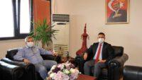 Balıkesir Milletvekili Yavuz Subaşı, BAÜN Rektörü Prof. Dr. İlter Kuş'u makamında ziyaret etti