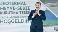 Jeotermal Sebze Meyve Kurutma Tesisi'nin Temeli Atıldı