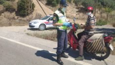 (792) araç kontrol edildi, (46) araca (15.454) TL idari para cezası uygulandı, (5) araç trafikten men edildi