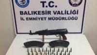 EDREMİT'TE KALAŞNİKOF TÜFEK ELE GEÇİRİLDİ