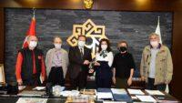 Balıkesir Yazarlar ve Şairler Derneği  Başkan Orkan'ı ziyaret etti