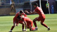 Ankaraspor ile deplasmanda karşılaşan Balıkesirspor, sahadan 2-1 galip ayrıldı.