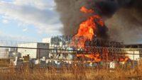 Balıkesir'de yağ fabrikasında yangın çıktı