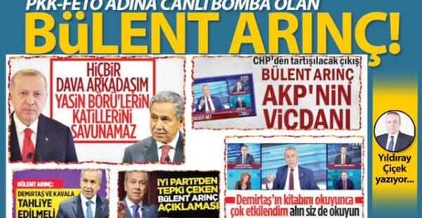 PKK-FETÖ adına canlı bomba olan Bülent Arınç!