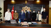 Balıkesir Tabip Odası Başkanı Dr. Necdet Uçan ve yürütme kurulu üyeleri Karesi Belediye Başkanı Dinçer Orkan'ı ziyaret etti.