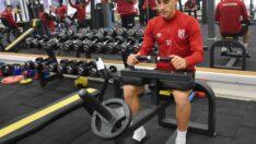 Ümraniyespor maçına hazırlanan Balıkesirspor ağırlık çalışmalarını sürdürüyor