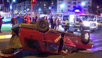 Otogar kavşağında feci kaza: 3 yaralı